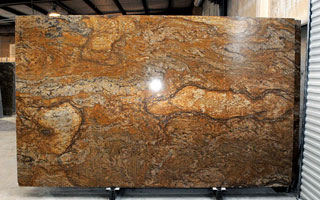 An Image Of A Full Size, Uncut Granite Slab.