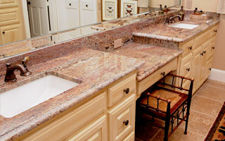 Granite For Bathroom Vanity granite countertopsstonetex, llc - dallas, tx